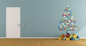 Комната при рождественская елка сделанная с красочными точками Стоковая Фотография RF