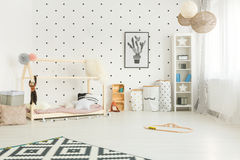 Комната ребенка стиля Scandi стоковые изображения