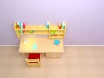 Комната ребенка школьного возраста Стоковая Фотография