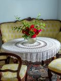 Комната ретро стиля живущая Стоковая Фотография