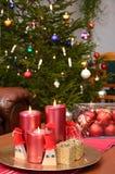 комната рождества главная готовая Стоковые Фото