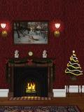 комната рождества 2 Иллюстрация вектора