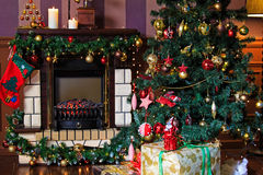 Комната рождества живущая Стоковая Фотография RF