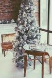 Комната рождества просторной квартиры Стоковая Фотография RF