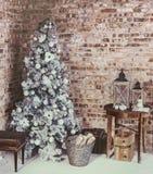Комната рождества просторной квартиры Стоковые Изображения