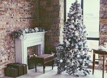 Комната рождества просторной квартиры Стоковое Изображение RF