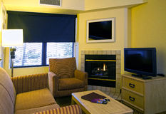 Комната самомоднейшей квартиры живущая Стоковая Фотография RF