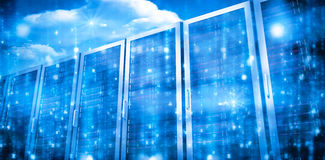 Комната сервера в сини Стоковая Фотография RF