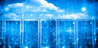 Комната сервера в сини Стоковые Фотографии RF