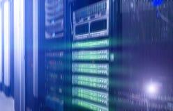 Комната сервера сети Футуристический дизайн techno иллюстрация штока