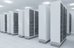Комната сервера сети Стоковое Изображение
