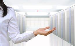 Комната сервера Стоковое Фото