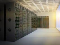 Комната сервера иллюстрация штока