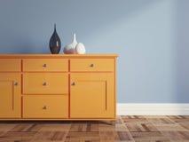 Комната Сине-апельсина Стоковые Изображения