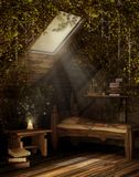 комната сказки чердака бесплатная иллюстрация