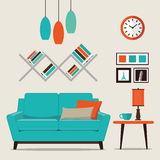 Комната современного дизайна внутренняя живущая Стоковые Фотографии RF
