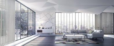 Комната современного дизайна интерьера живущая Стоковое Изображение RF