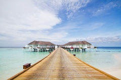 Комната сюиты в Мальдивах Стоковые Фото