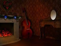 Комната с камином Стоковое фото RF