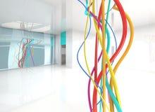 Комната с проводами Стоковая Фотография