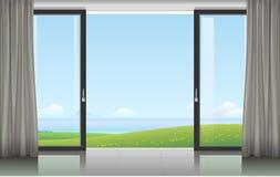 Комната с раздвижной дверью Стоковое Изображение
