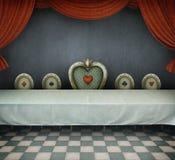 Комната с таблицей Стоковая Фотография