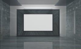 Комната с экраном Стоковое Фото