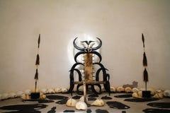Комната трона для короля Стоковое Изображение