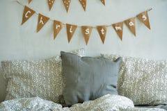 Комната украшенная для рождества Стоковое фото RF