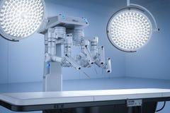 Комната хирургии с робототехнической хирургией иллюстрация вектора