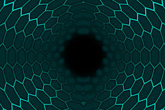 Комната шестиугольника 3d Стоковые Фото