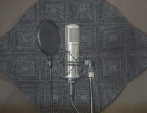 Комната ядровой записи пусковой площадки речи и конденсатор Mic стоковые изображения rf