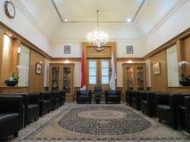 Комната для гостей на здание муниципалитете Джакарты стоковое фото rf