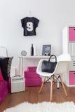 Комната для стильной девушки Стоковое Изображение