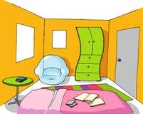 комната 07 предпосылок подростковая Стоковое Изображение RF