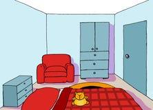 комната 09 предпосылок подростковая Стоковая Фотография