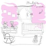Комната Babys Стоковые Изображения RF
