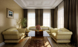 комната 3D представляет Стоковая Фотография RF