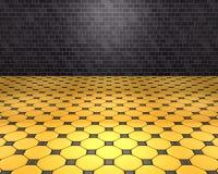 Комната d черная и желтая Стоковые Фотографии RF