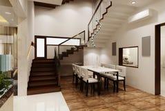 Комната 3D Dinning Стоковые Изображения