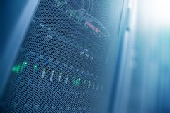 Комната datacenter интернета сервера, сеть, bac концепции технологии Стоковые Изображения RF