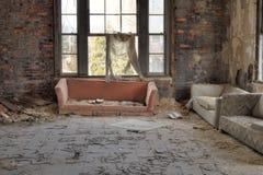 Комната Decayed живущая Стоковое Изображение RF
