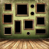 комната grunge промышленная нутряная старая иллюстрация вектора