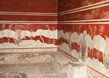 Комната Knossos трона Стоковые Изображения