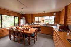 комната lodge завтрака нутряная стоковое фото