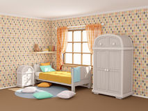 Комната ` s детей с косоугольниками Стоковая Фотография