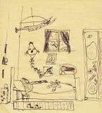комната s питомника 2 детей Стоковая Фотография