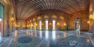 комната stockholm залы города золотистая Стоковая Фотография RF