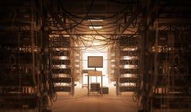 Комната Techno Стоковое Изображение