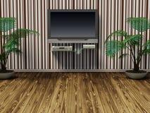 комната tv Стоковые Изображения RF